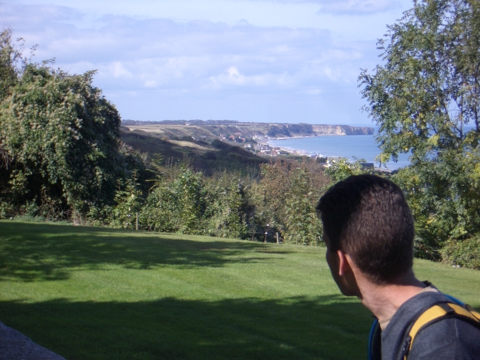 Me overlooking Normandy Beach.jpg