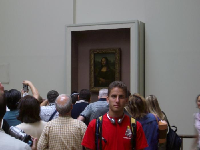 Me with Mona Lisa