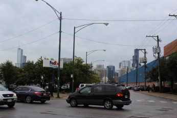 The FedEx Building with Chicago in the Background